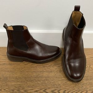 A.P.C. Leather Chelsea Boot | Size 37 | Brown